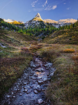 Photograph - Last Light On Lederkopf by Alexander Kunz