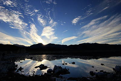 Photograph - Last Light On Mono Lake by Sean Sarsfield