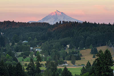 Photograph - Last Light On Mount Hood by Jit Lim