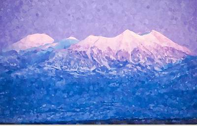 Digital Art - Last Light On Mount Peale From Buck Canyon Overlook by Kai Saarto
