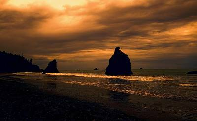 Photograph - Last Light On Rialto Beach by Dan Sproul