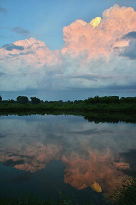 Photograph - Last Light On Storm Clouds by Ray Mathis