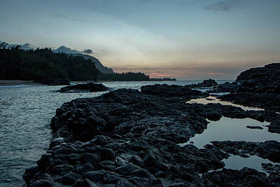 Photograph - Last Light On The Rocks by Teresa Wilson