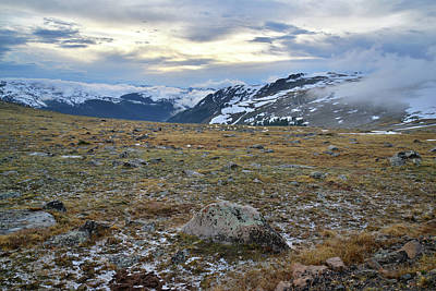 Photograph - Last Light On Trail Ridge by Ray Mathis