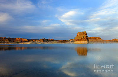 Last Light Photograph - Last Light Over Lake Powell by Mike Dawson