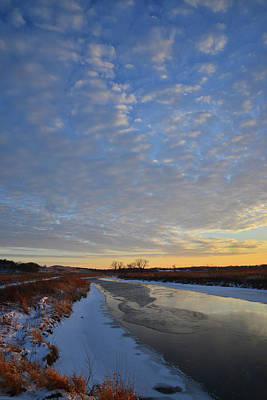 Photograph - Last Light Over Nippersink Creek In Glacial Park by Ray Mathis