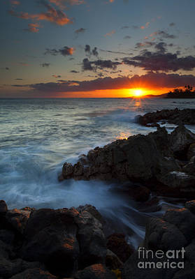 Sunburst Photograph - Last Light Over Paradise by Mike  Dawson