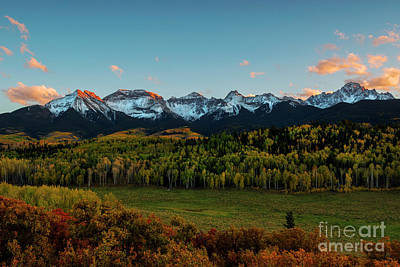 Photograph - Last Light Over The Sneffels by Mike Dawson