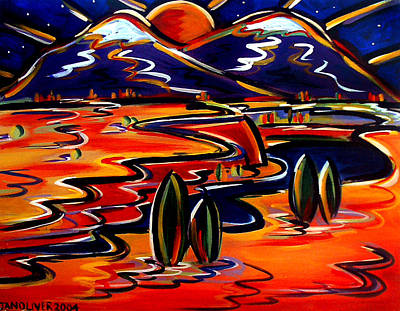 Painting - Last Light Over The Spanish Peaks by Jan Oliver-Schultz