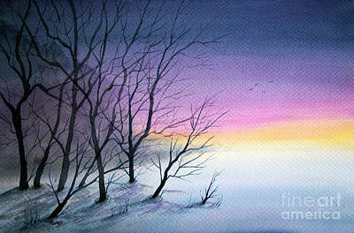 Painting - Last Light by Rebecca Davis