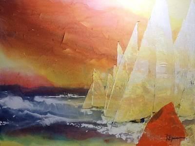 Scot Painting - Last Mark by Robert Yonke