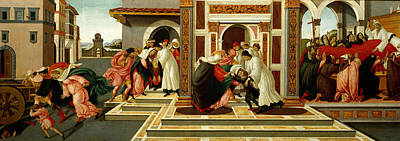 Last Miracle And The Death Of St. Zenobius Art Print by Sandro Botticelli
