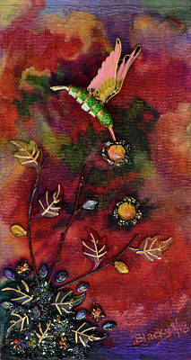 Mixed Media - Last Nectar Of Autumn by Donna Blackhall