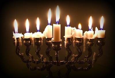 Photograph - Last Night Of Chanukah by Marlene Burns