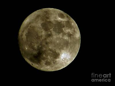 Photograph - Last Night's Moon by Tim Townsend