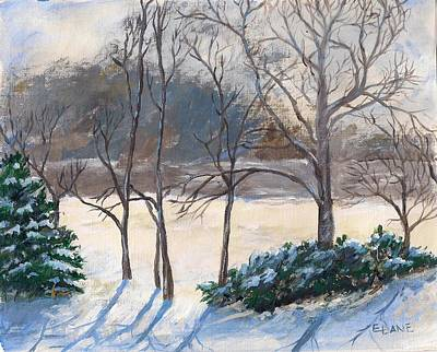 Mixed Media - Last Night's Snow by Elizabeth Lane