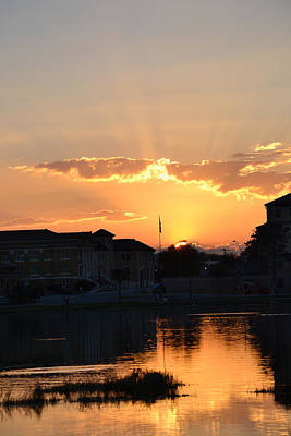 Photograph - Last Nights Sunset Over Lake City Florida by rd Erickson