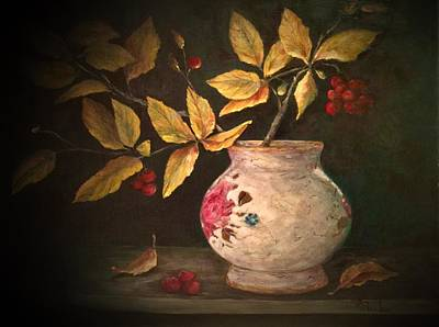 Painting - Last Of Autumn by Anne Barberi
