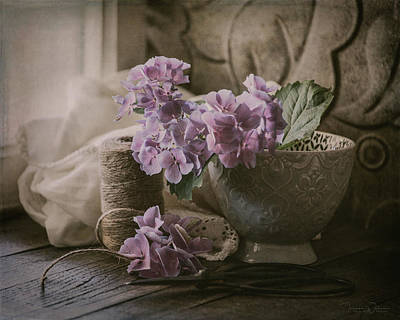 Photograph - Last Of The Hydrangeas by Teresa Wilson