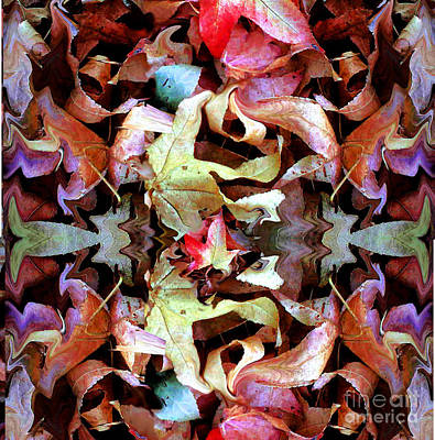 Fallen Leaf Mixed Media - Fall's Perfect Kaliedoscope by Marcy  Orendorff