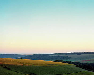 Photograph - Last Of The Light On Butts Brow, Sussex by Will Gudgeon