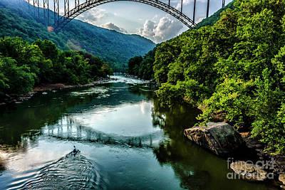 New River Gorge Bridge Photograph - Last Paddle by Thomas R Fletcher