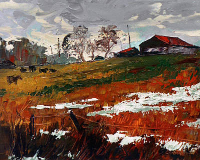 Painting - Last Patches Of Snow by Sergey Zhiboedov