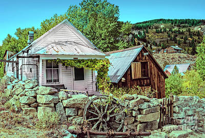 Miners Ghost Photograph - Last Post Office And Ice House by Robert Bales