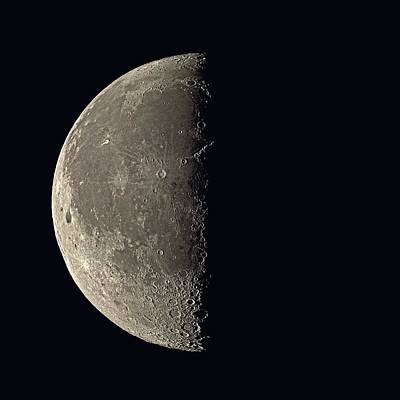 Third-oldest Photograph - Last Quarter Moon by Eckhard Slawik