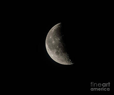 Photograph - Last Quarter Moon In February by David Bearden