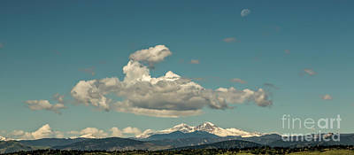 Photograph - Last Quarter Moon Over Longs Peak by Jon Burch Photography