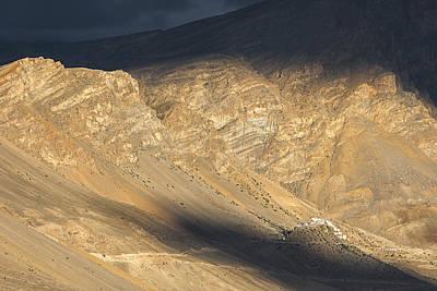 Photograph - Last Rays On Key Monastery by Hitendra SINKAR