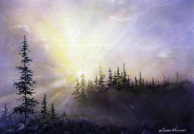 Painting - Last Rays Sunset by Connie Williams