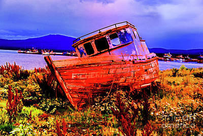 Photograph - Last Red Boat by Rick Bragan