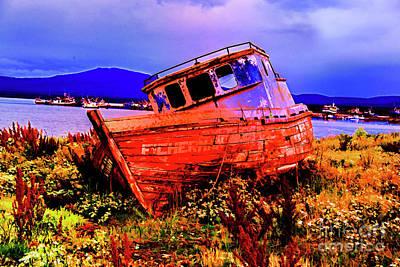 Photograph - Last Red Boat by Rick Bragan