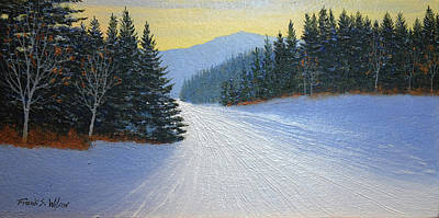 Painting - Last Run by Frank Wilson