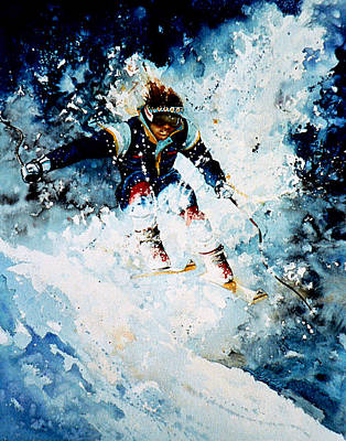 Sports Paintings - Last Run by Hanne Lore Koehler