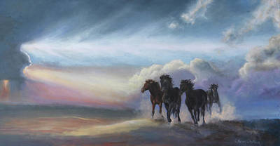 Painting - Last Run Of The Day by Karen Kennedy Chatham
