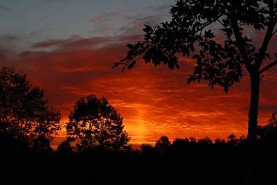 Photograph - Last September Dawn 1 by Kathryn Meyer