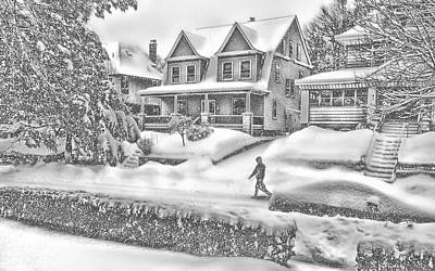 Last Snow For Montclair 2015 Art Print