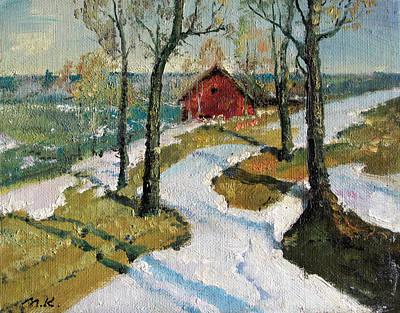 Red Roses - Last Snow by Mark Kremer