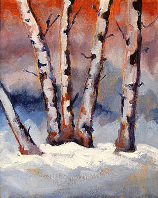 Painting - Last Snow by Nancy Merkle