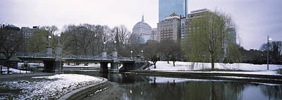 Boston Public Garden Photograph - Last Snow Of The Season, Boston Public by Panoramic Images