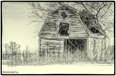 Photograph - Last Stand Barn Black And White by LeeAnn McLaneGoetz McLaneGoetzStudioLLCcom