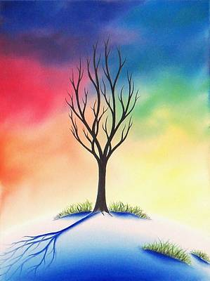Bare Trees Painting - Last Stand by Rachel Bingaman