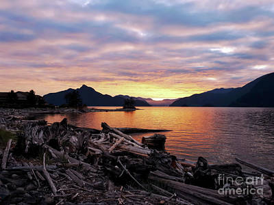 Photograph - Last Summer Sunset On Furry Creek by Victor K
