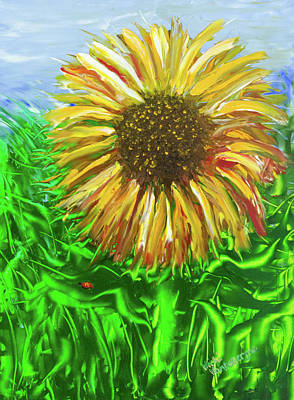 Painting - Last Sunflower by Vicki VanDeBerghe