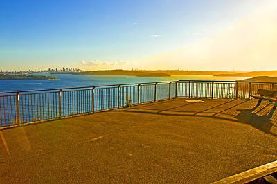Photograph - Last Sunlight Fairfax Walk Lookout by Miroslava Jurcik