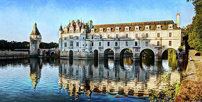 Photograph - Last Sunlight On Chenonceau - Vintage Version by Weston Westmoreland