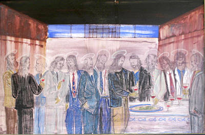 Last Supper 20th Century Art Print by Marwan George Khoury